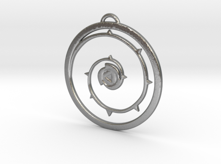 Steven Universe Shield Pendant version 4 3d printed