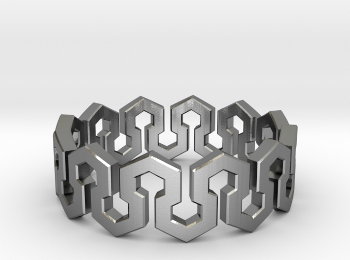Endless Hexagon Ring 3d printed