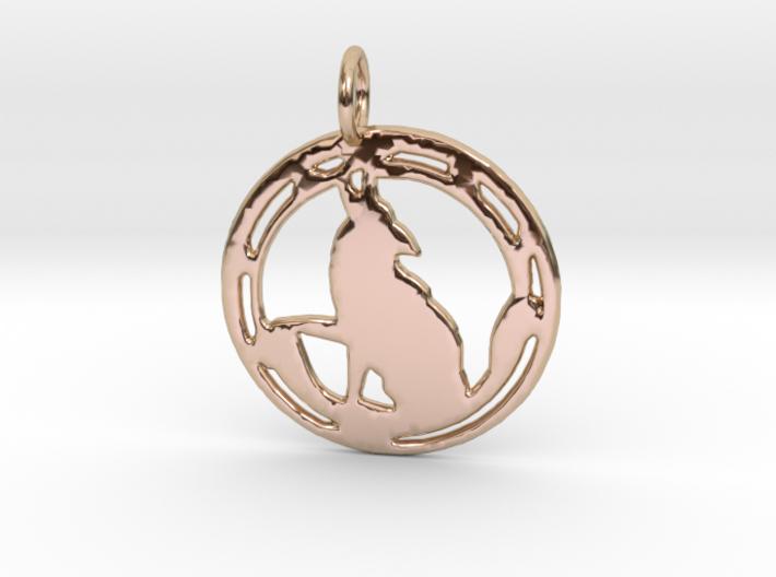 'Wild One' pendant 3d printed