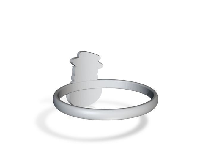 Snowman Ring US9 3d printed