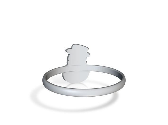 Snowman Ring US11,5 3d printed