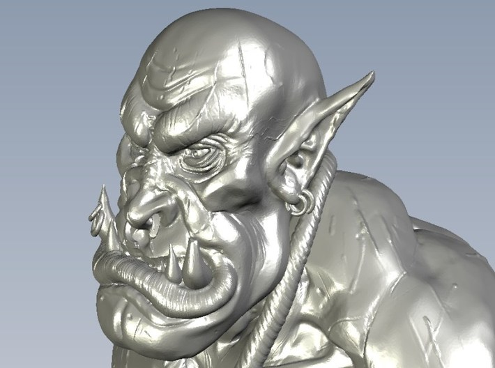 1/9 scale Orc daemonic creature bust B 3d printed