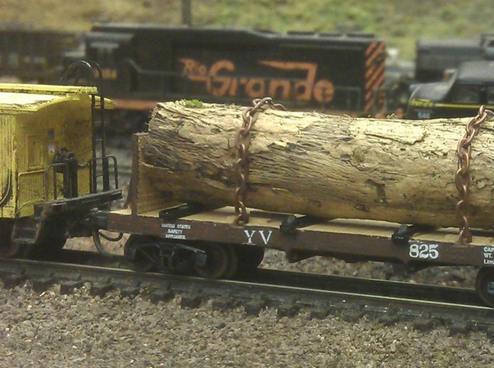 Yosemite Bulk Head Log Car x2 - N Scale 1:160 3d printed