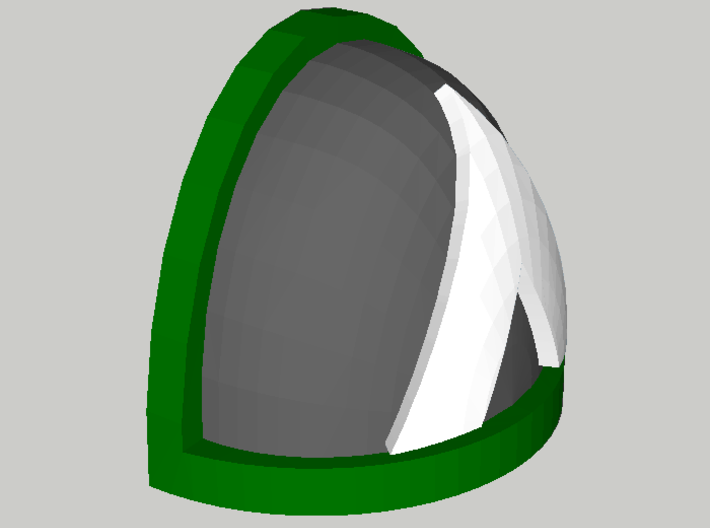 10 Shoulder Pads Triangle 3d printed