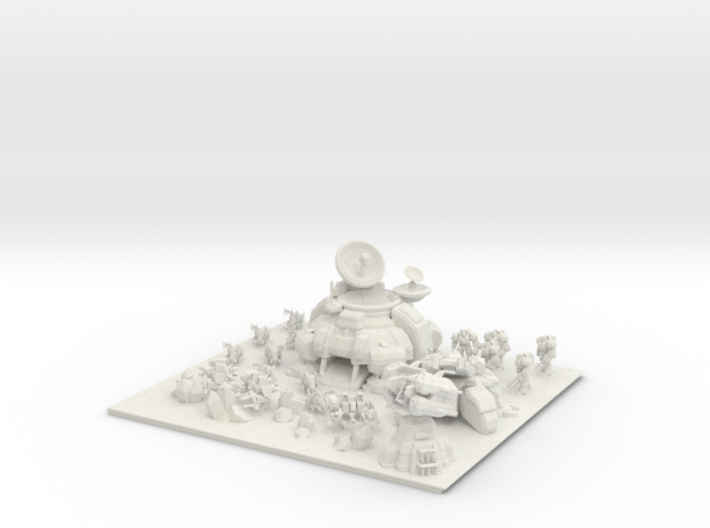 ZvT Diorama - Harassment or Target Practice? 3d printed