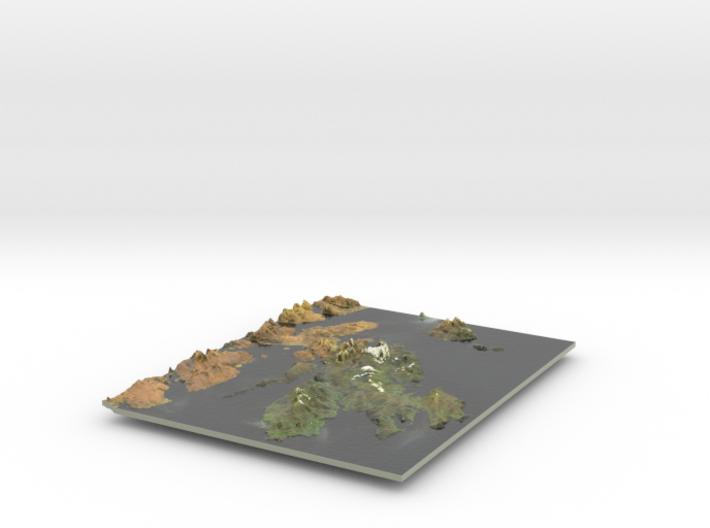 Isle Of Skye Map, Scotland 3d printed