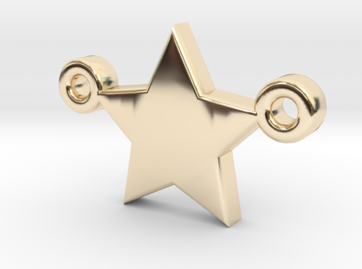 Star Pendant - Size 1,45cm 3d printed