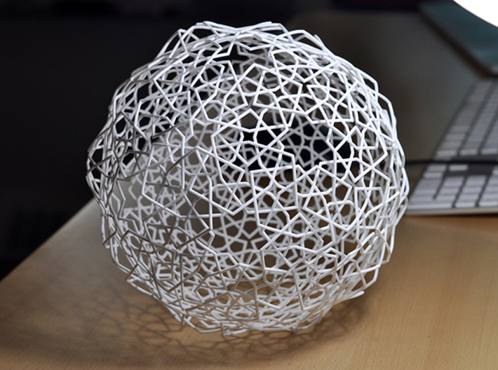 Bourgoin Plate 93 Woven (cylinders) 3d printed