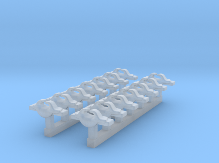 1/600 RN WW2 Cruiser Cleats x14 3d printed 1/600 RN WW2 Cruiser Cleats x14