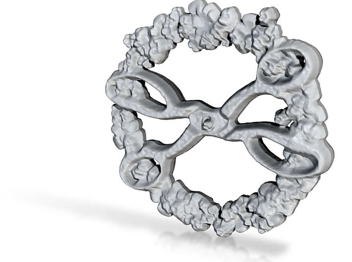 flower scissors 3d printed
