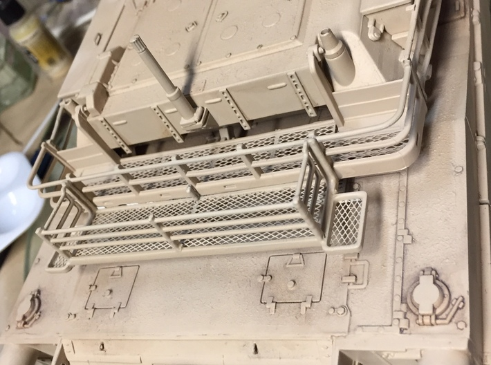 1/16th M1A2 Abrams Tank Bustle Rack Extension BRE 3d printed