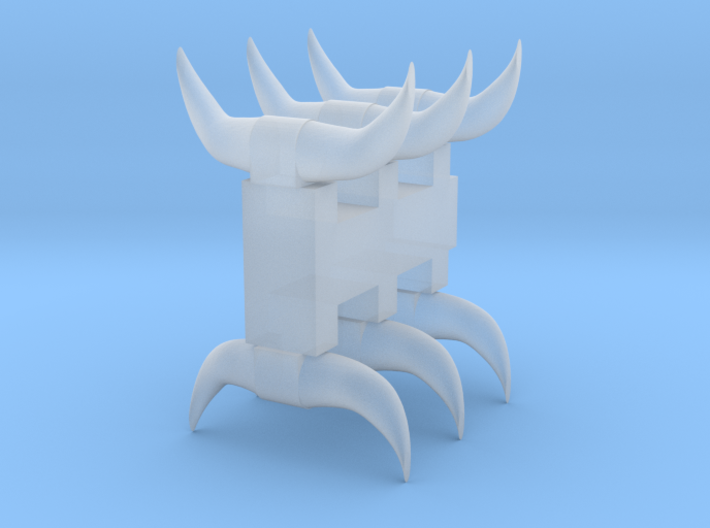 6 Short horns 3d printed