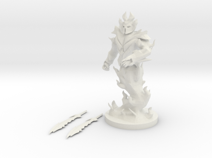 Fire Elemental Myrmidon 3d printed