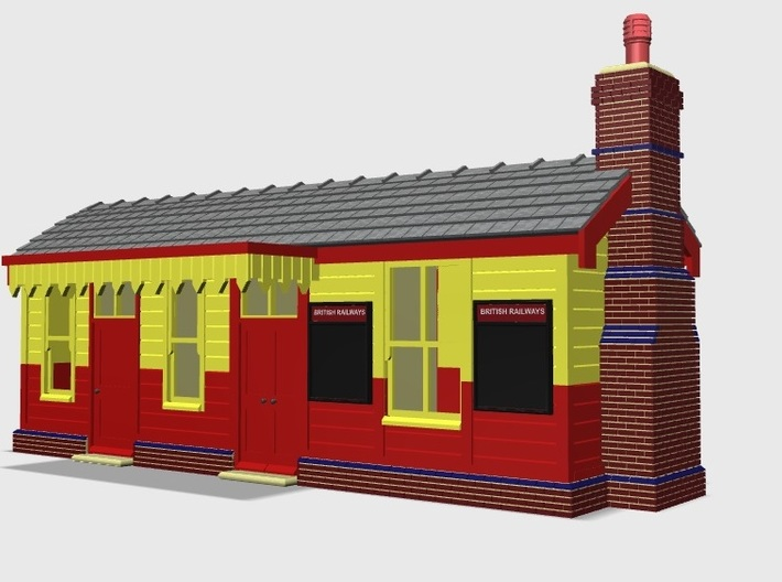CO72 Consall Station 3d printed Screen shot of the model