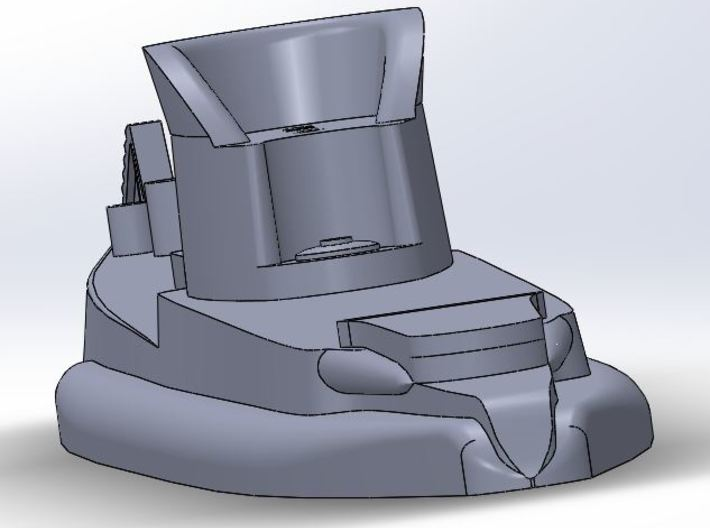 07SA01 NMS Delfinul 1:700 3d printed View from the stern