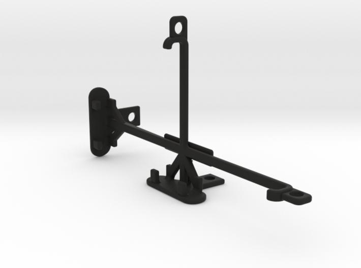 XOLO Black tripod & stabilizer mount 3d printed
