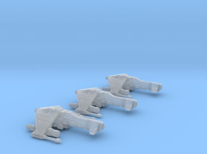 3-Pack Vaksai Fighter Variant 1B 1/270 3d printed
