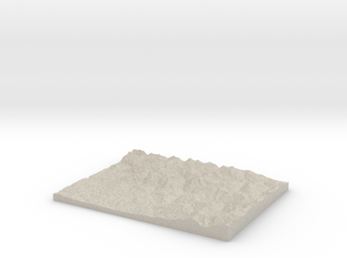 Model of Saddle Mountain 3d printed