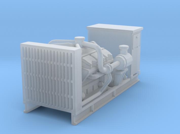 1/87th Diesel Electric Engine generator w cabinet 3d printed