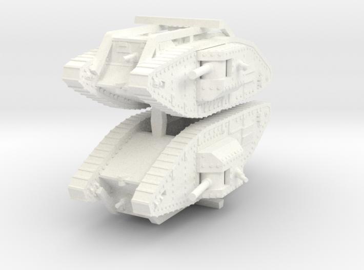 1/144 Mark V Male 3d printed