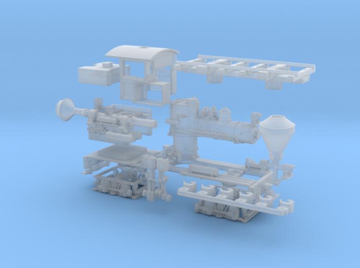 Nn3 Scale Class A, 16 Ton, 'T' Boiler Shay 3d printed