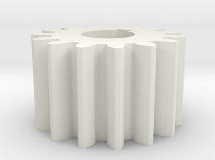 Cylindrical gear Mn=1 Z=15 AP20° Beta0° b=10 HoleØ 3d printed