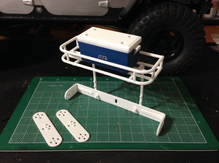 AJ10009 RotopaX Rear rack 3d printed Rack shown assembled and holding the Proline Cooler (sold separately).