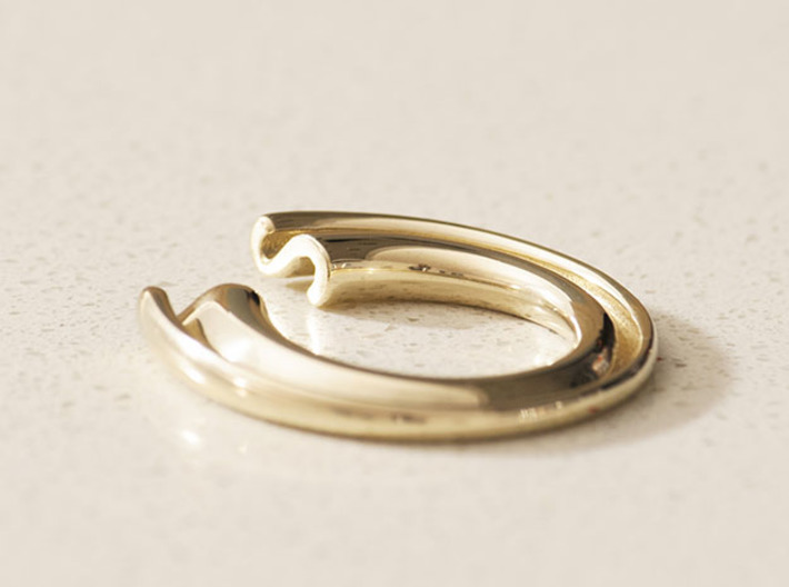 S Letter Ring 3d printed