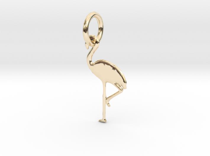 Flamingo Bird Pendant 3d printed