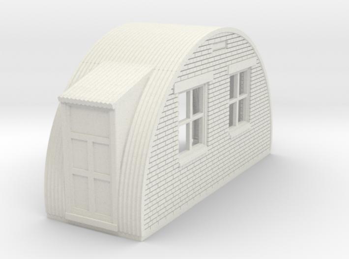 N-76-back-end-brick-nissen-hut-2-doors-1a 3d printed