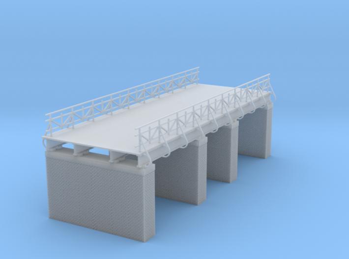 European Railroad Bridge Zscale 3d printed railroad or highway bridge Z scale