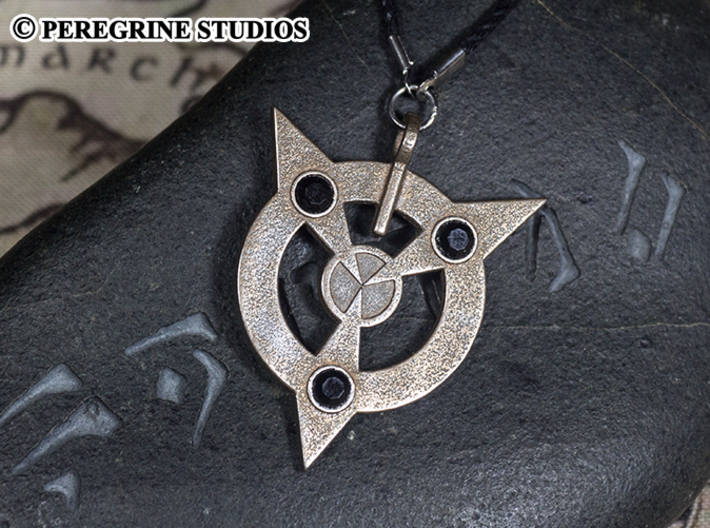 Pendant - Amulet of Articulation 3d printed Stainless Steel