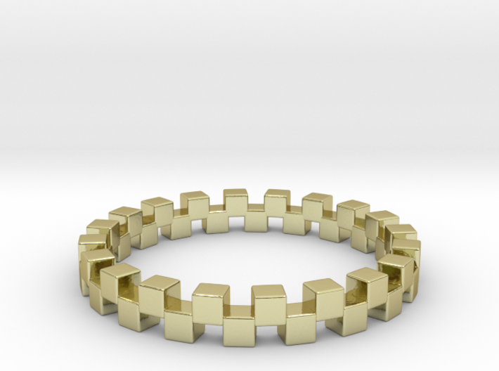 Cuboid Ring, US size 12.5, d=21.8mm(all sizes on d 3d printed