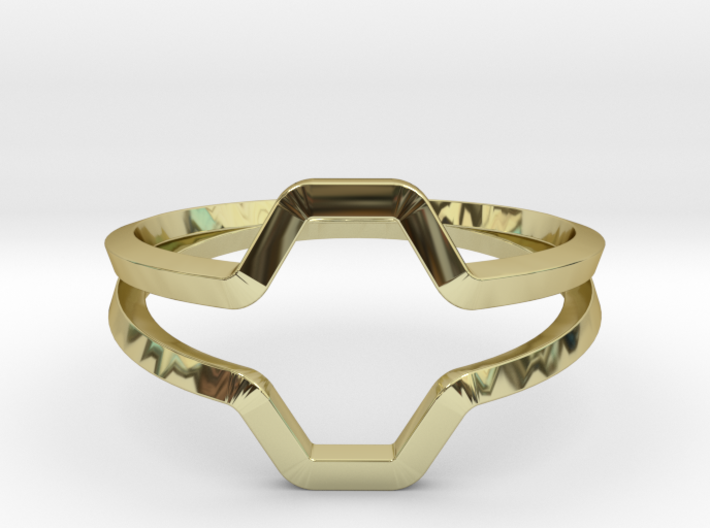 Honey H.01, Ring US size 8, d=18,2mm 3d printed