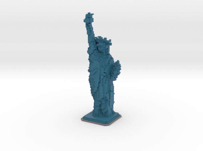 Statue of Liberty in Minecraft 3d printed