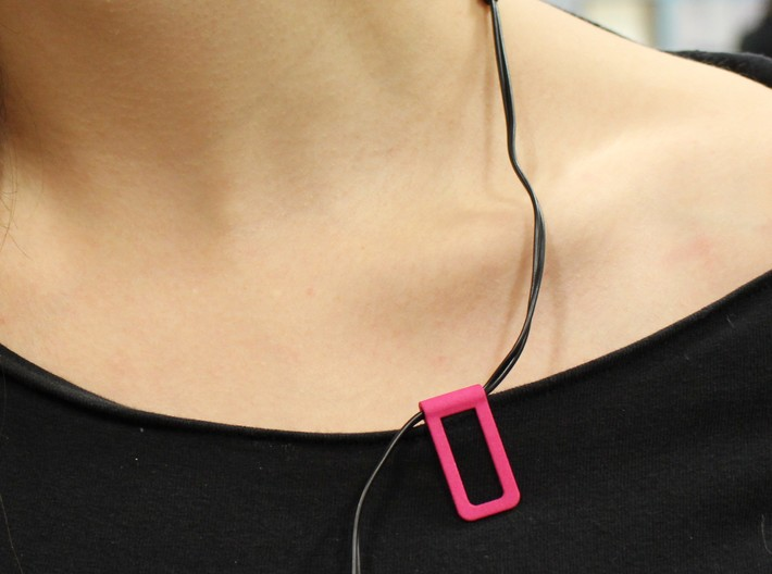 Shirt cable clip for headphone 3d printed