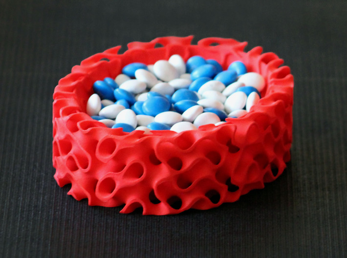 Gyroid Bowl Oval 3d printed Serving Suggestion
