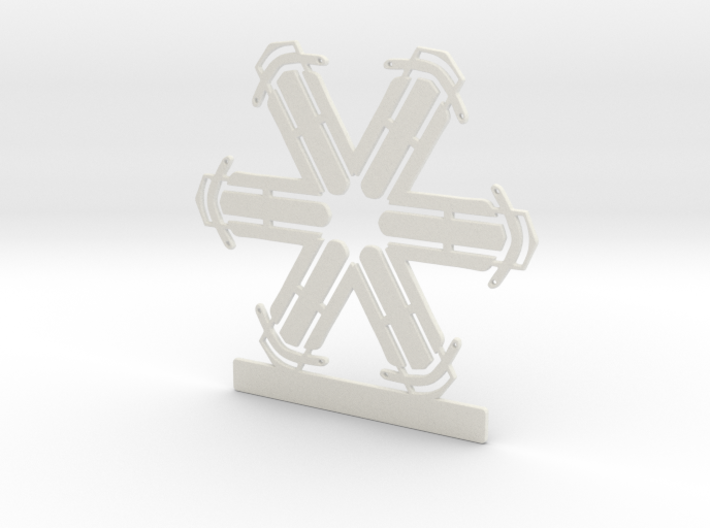 Customizable Sled Snowflake Ornament 3d printed