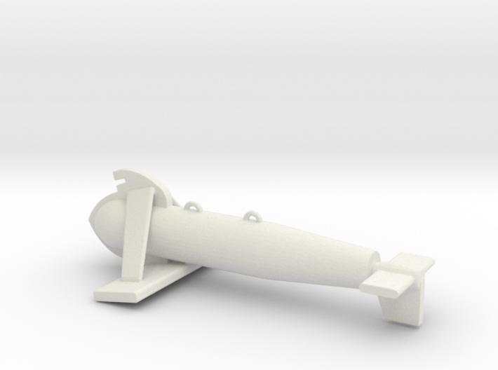 1/72 Scale Paravane 3d printed