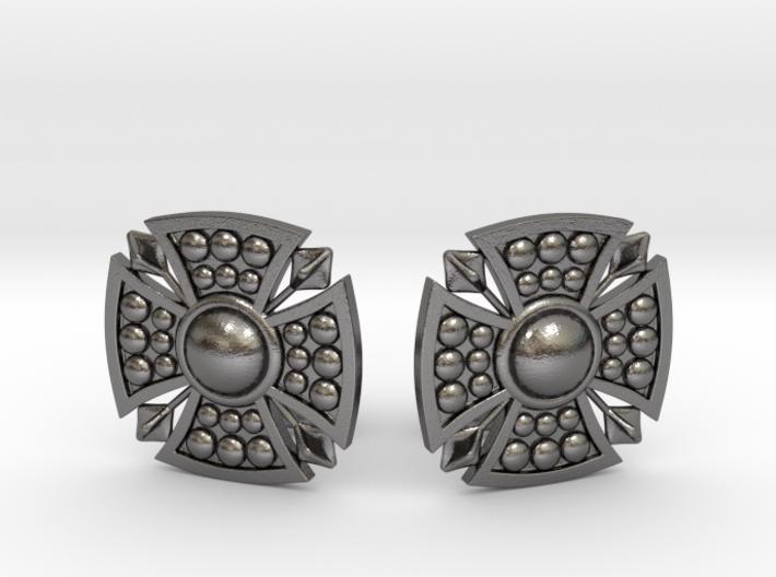 Designer Shield Cufflinks 3d printed
