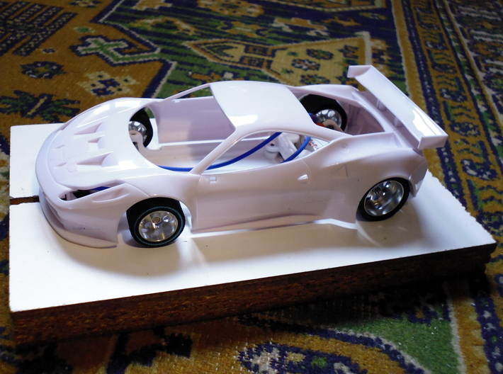 Slot car chassis for 458 GT2 3d printed