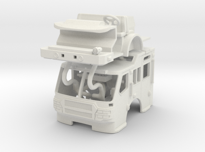 1/64 E-One Quest Raised Roof cab 3d printed