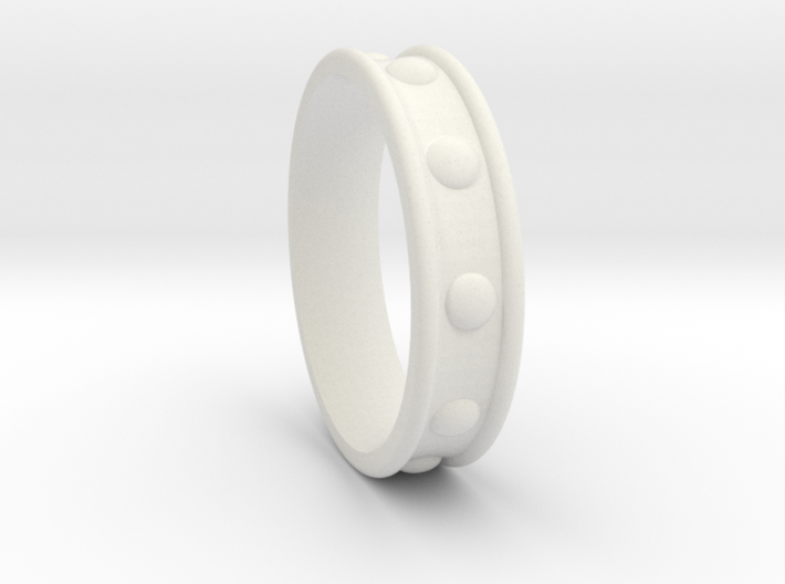 Studded Collar Ring 3d printed
