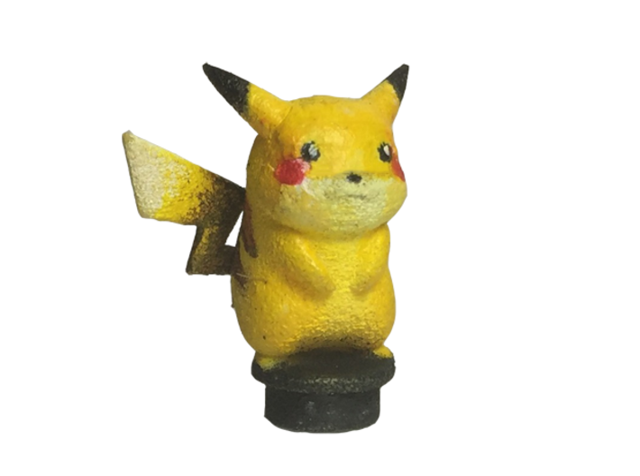 Custom Pikachu Inspired Lego 3d printed