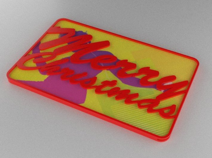 Gift Card Holder Merry Christmas 3d printed