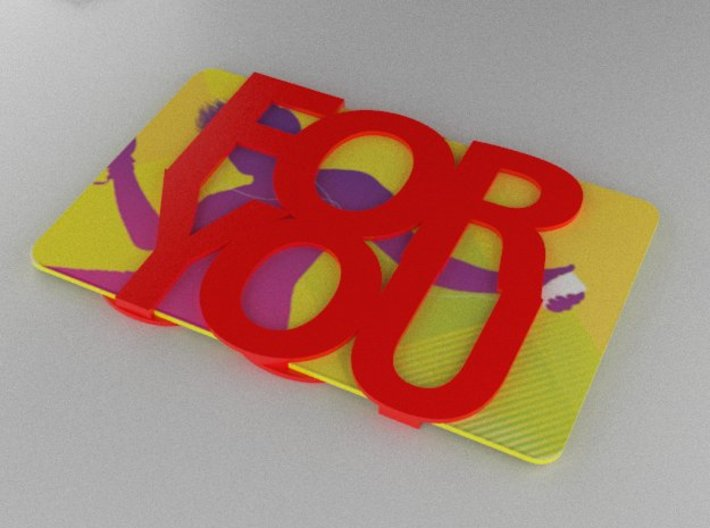Gift Card Holder For You 3d printed