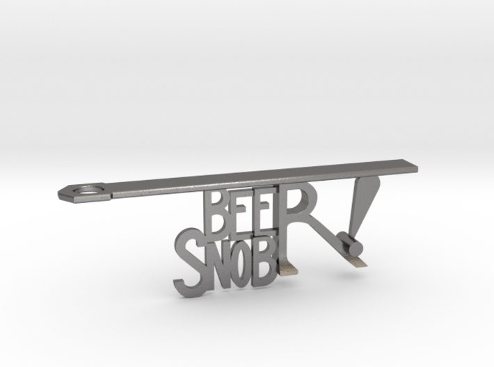 """BEER SNOB"" Bottle Opener Keychain - Customizable 3d printed"