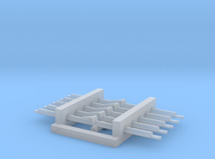 1:144 5x Aircraft Towbar 3d printed