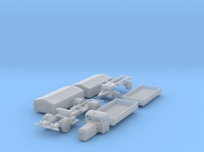 Henschel 6J2 Pritsche Plane-Lastzug (N 1:160) 3d printed