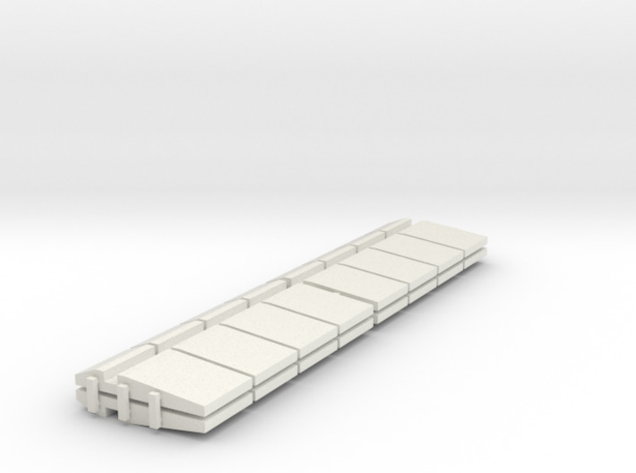 HO/1:87 Precast concrete bridge side barrier x16 3d printed